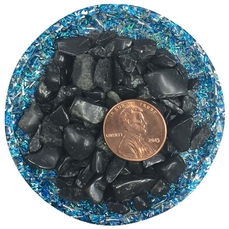 Black Tourmaline Tumbled Rough Crystals