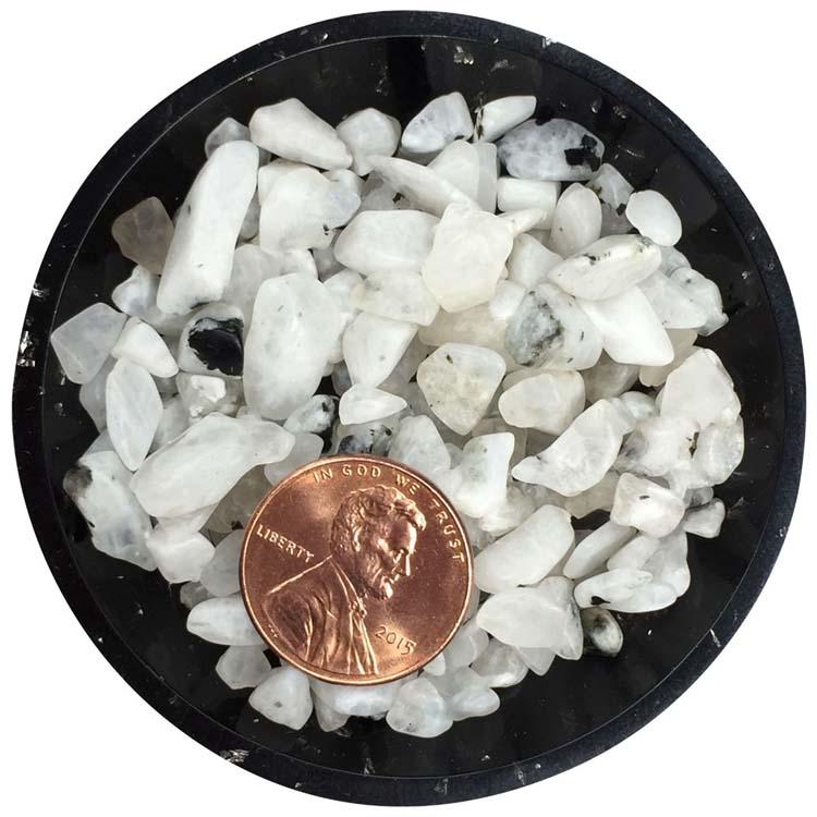 Rainbow Moonstone Tumbled Rough Crystals - Size L1