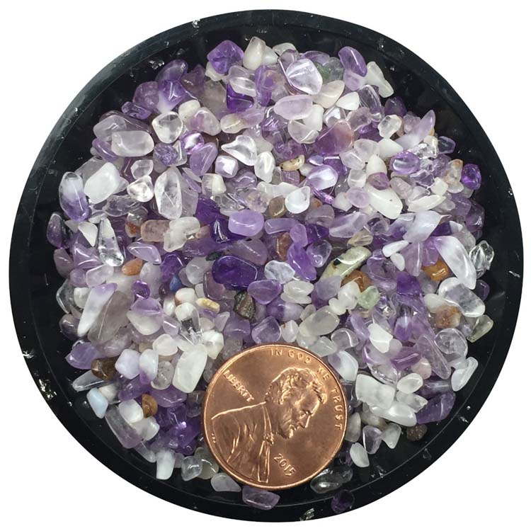 Amethyst (Banded) Tiny Crystals - Size 0