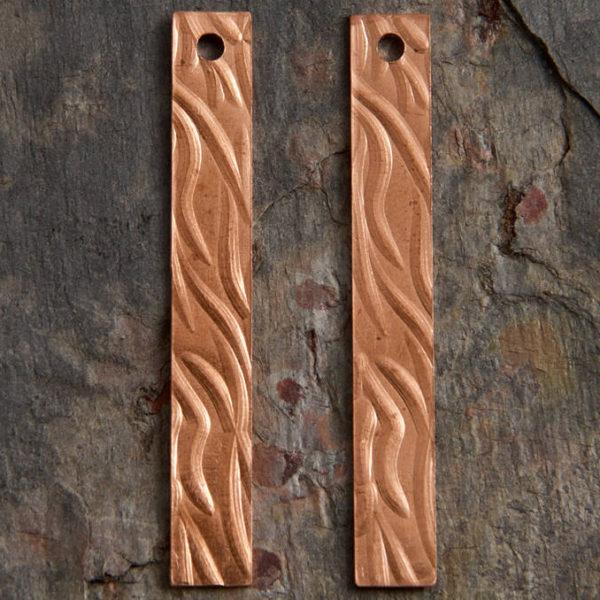 Copper Dangle Earring Rectangles