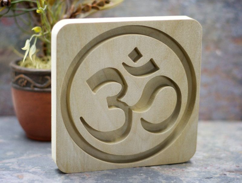 Hand Crafted Om Symbol Plaque | Wall Art | Home Decor | Yoga Studio Sacred Space Art || DIY