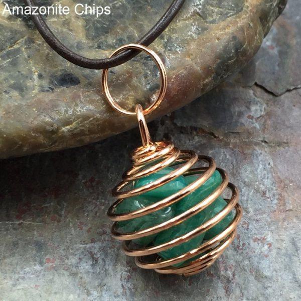 Amazonite in Copper Cage