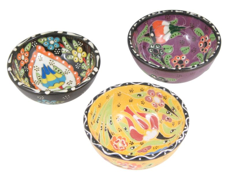 """Hand Painted 3"""" Ring Dish Trinket Bowl 