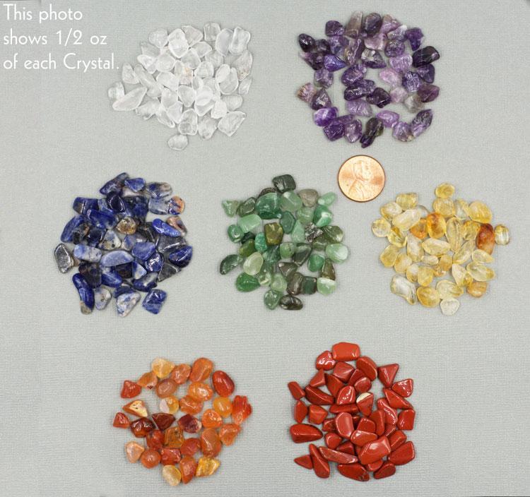 Seven Stone Chakra Mini Crystal Set