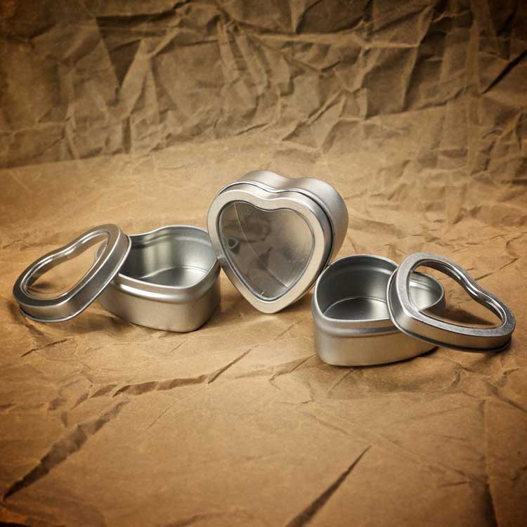 Heart Tin with Window from Craft Supply US