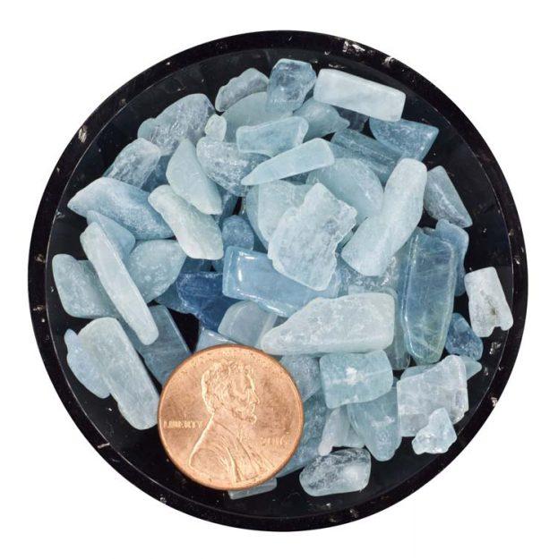 Aquamarine Tumbled Rough Mini Crystals