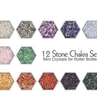 12 Stone Chakra Mini Crystal Set from Craft Supply US