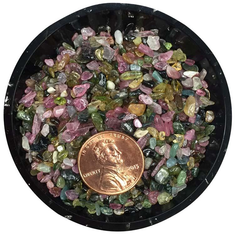 Rainbow Tourmaline Tiny Crystals - Size 00
