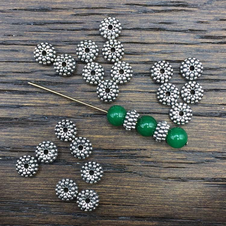 Triple Ribbed Spacer Beads
