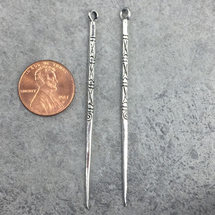 Engraved Tribal Stick Charms
